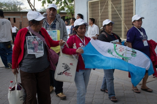 Caravana de madres en Ixtepec. Foto: Polo Hernández