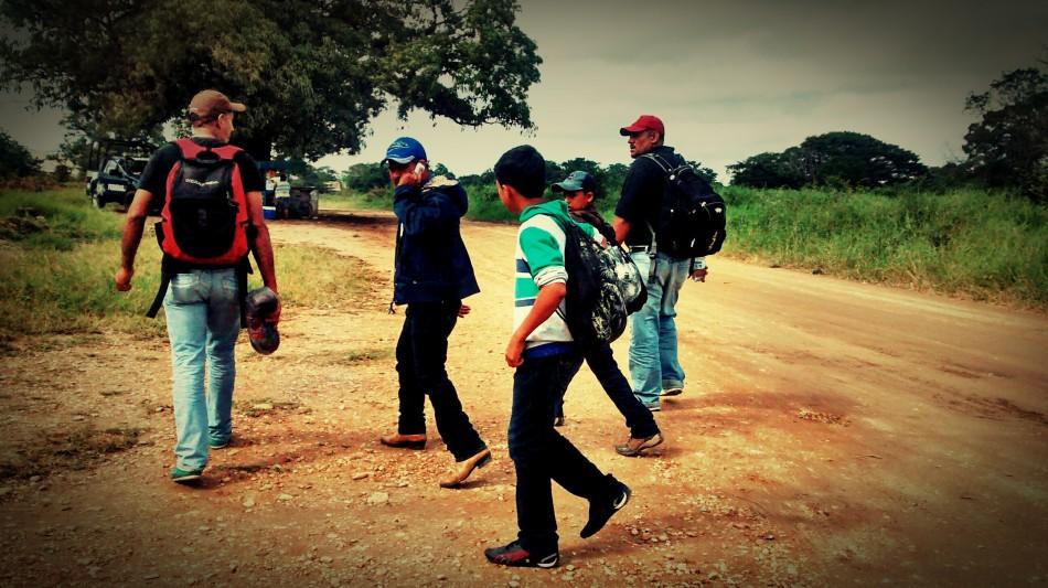 Niños migrates son visibles en la ruta migratoria.  FOTO: instagram.com/rubenfigueroadh