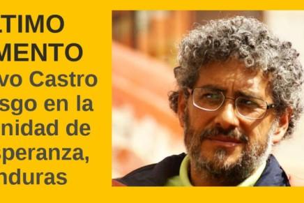 ÚLTIMO MOMENTO: Gustavo Castro en riesgo enHonduras