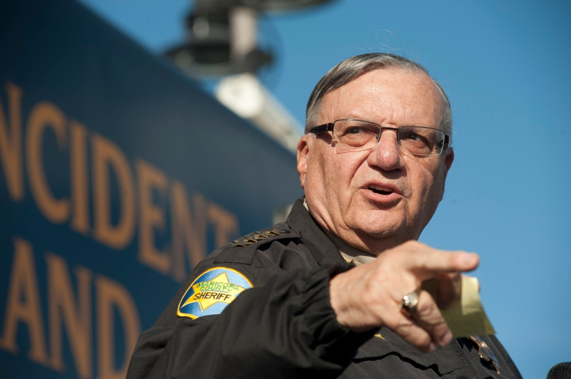 Image: Maricopa County Sheriff Joe Arpaio announces newly launched program aimed at providing security around schools in Anthem Arizona