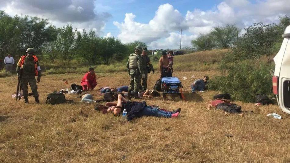 Mueren 5 migrantes tras accidente en la carretera Monterrey – Reynosa, hay 27heridos