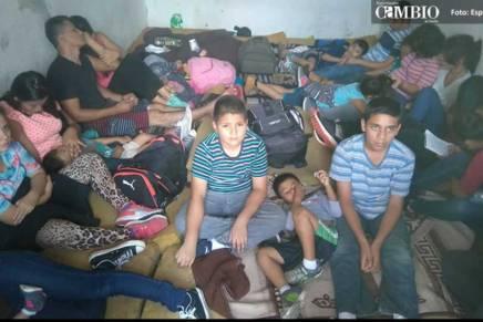 Localizan en Puebla casa de seguridad con mas de 90migrantes