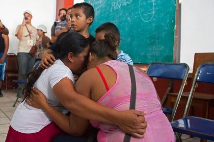 Reyna y Juana, tercer reencuentro propiciado por la XII Caravana, enHuixtla