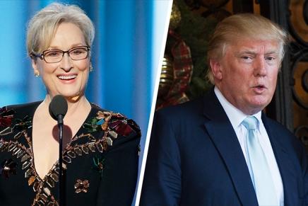 La actriz Meryl Streep llama a defender a los migrantes y periodistas de DonaldTrump