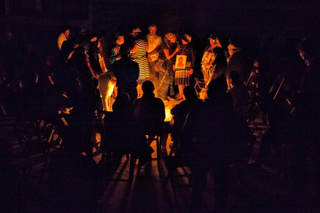 Bienvenida a Caravana de Madres Centroamericsnas,con ritual Maya. Un espacio de sanación y retomar fuerzas para continuar la búsqueda de su familiar migrante desaparecidos 2