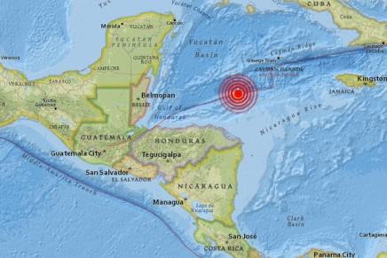 #ULTIMAHORA: Fuerte terremoto de magnitud 7.8 se registra en las costas deHonduras