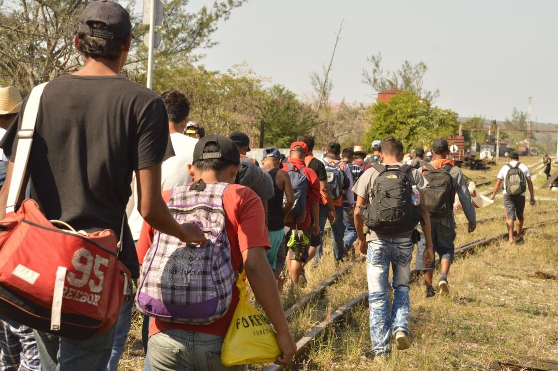 Migrates centroamericanos en transito por Mèxico.