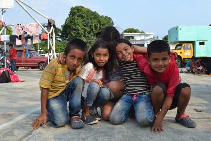 Un día con los niños y niñas migrantes del éxodocentroamericano