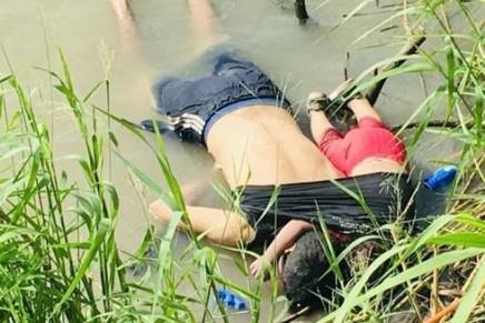 Mueren ahogados en el Rio Bravo un migrante salvadoreño y suhija