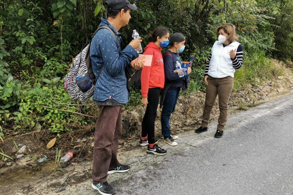 Equipo de trabajo de la CNDH recorre la ruta migratoria en la frontera sur deMéxico